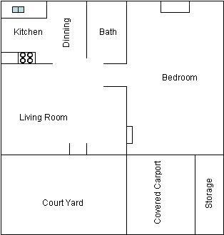 One Bedroom W/ Carport